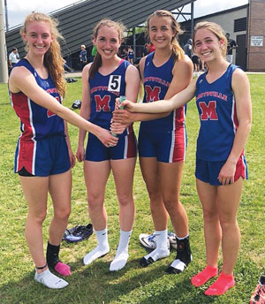 Marysville track athletes place at district meet