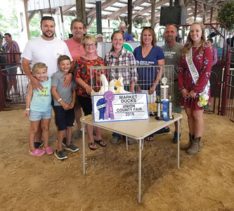 A record was set for the purchase of this year's grand champion market ducks, by exhibitor Taci Welch, at the Union County Fair Saturday. North Main Motors ...