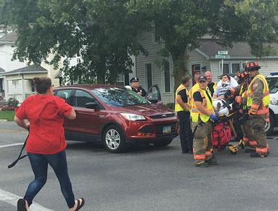 Cyclist injured in crash