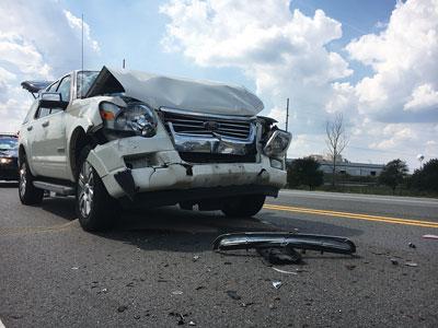 Three-car crash reported