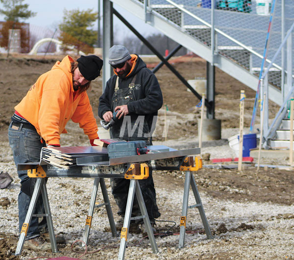 Stadium work underway