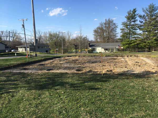 Space cleared for Unionville Center shelter house