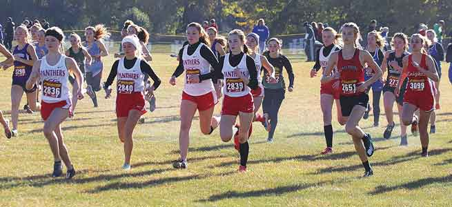 FHS girls place third in district cross-country
