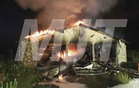 Hinton Mill Road home burns