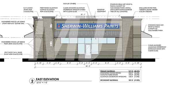 Sherwin-Williams to build new store